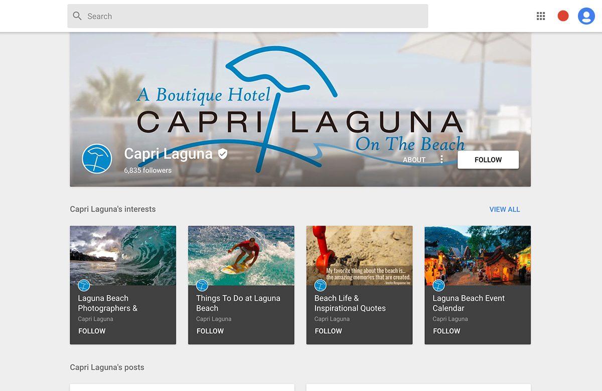 capri laguna google plus cover photo