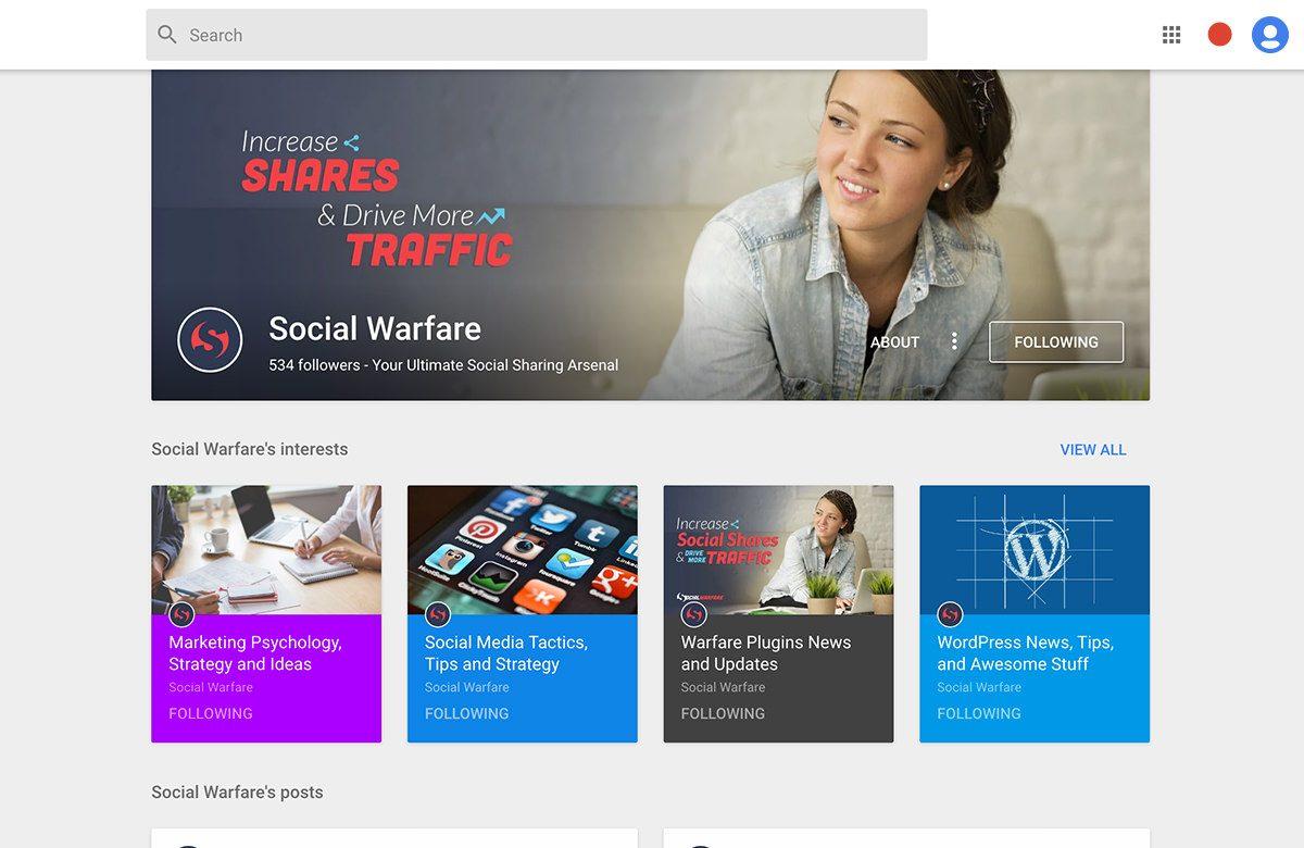 social warfare google plus cover photo
