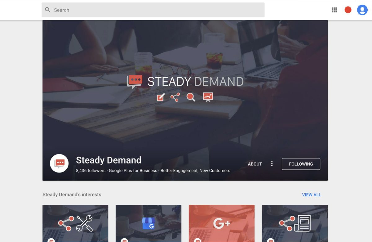 steady demand google plus cover photo