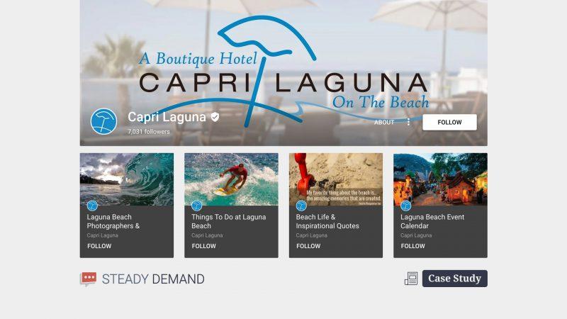 Capri Laguna, Local Hotel Marketing Case Study