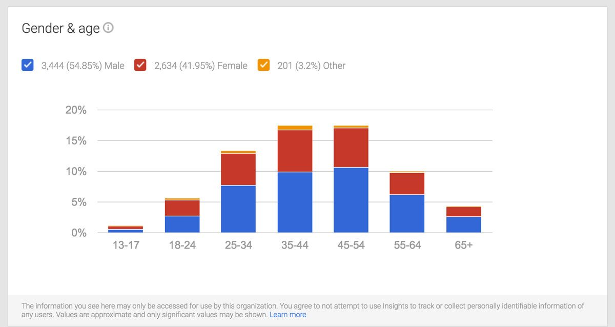 google insights audience gender and age
