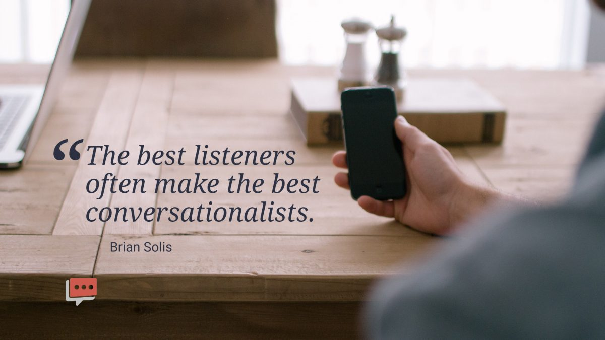 quote about being a listener