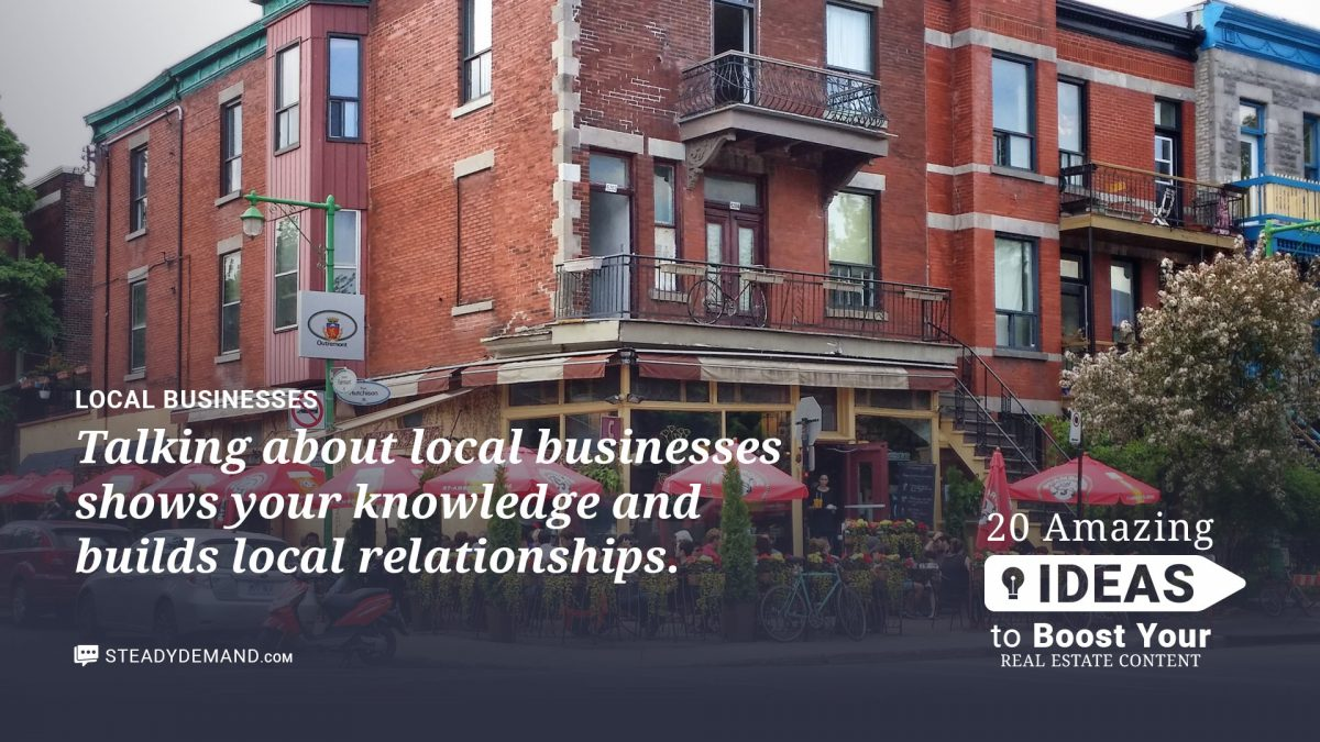 local business for real estate blogs