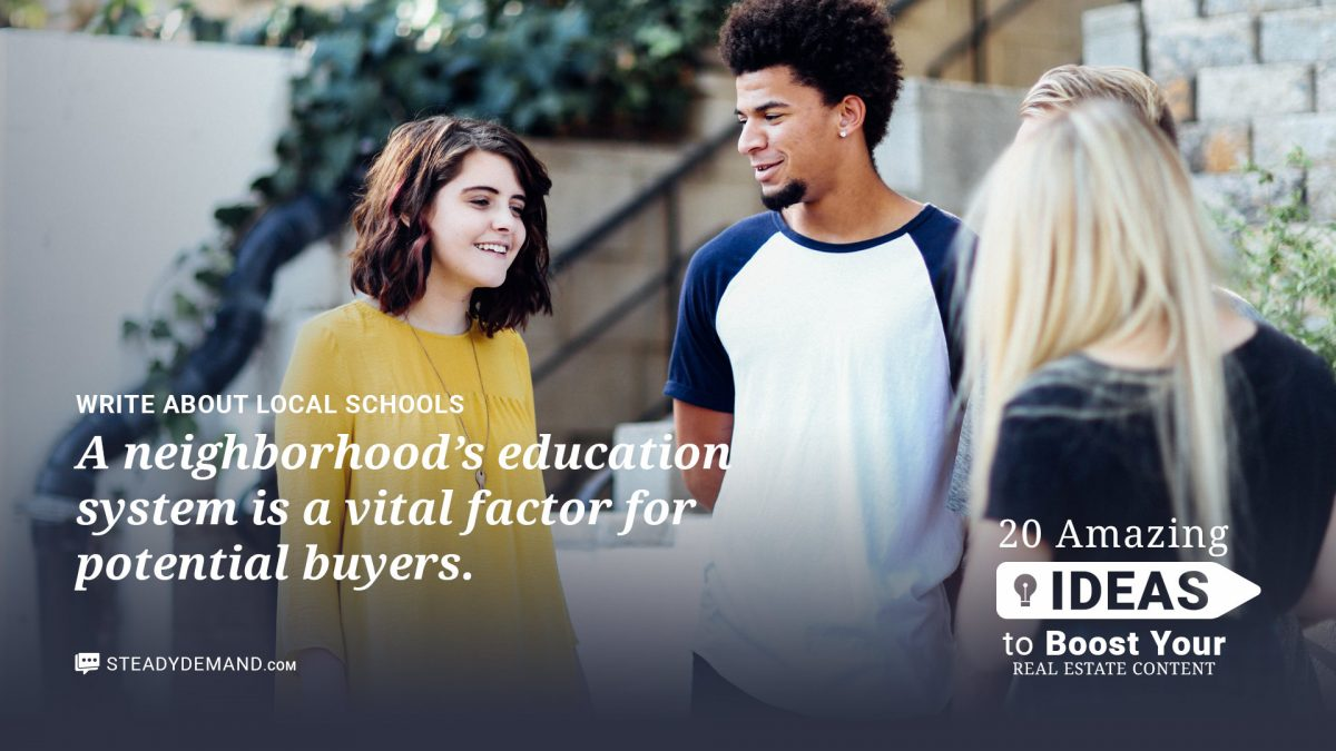 local schools for real estate blogs