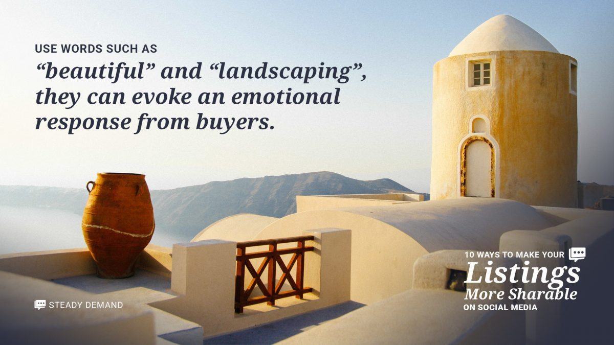 use emotional words in real estate listings