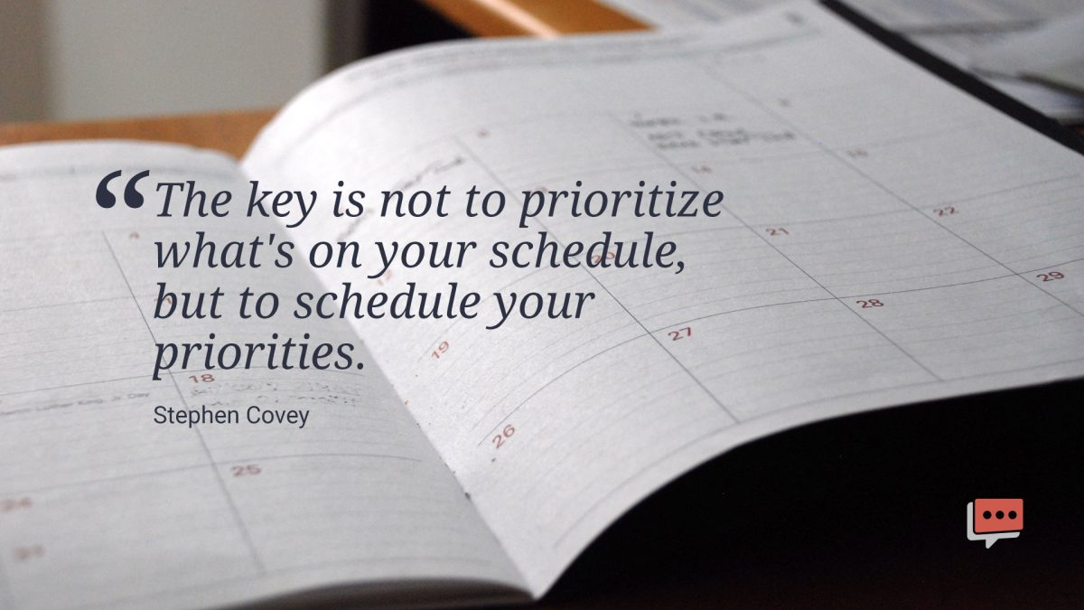 quote about prioritizing your schedule
