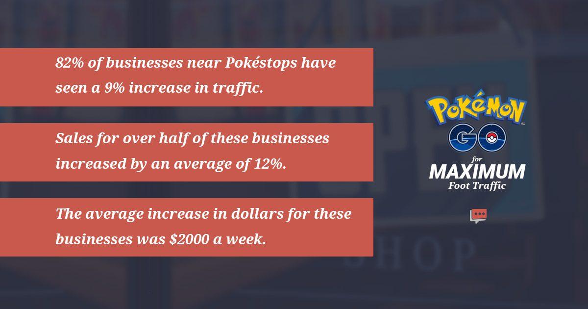 Pokémon Go local business stats