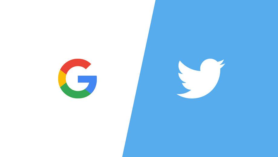 google versus twitter